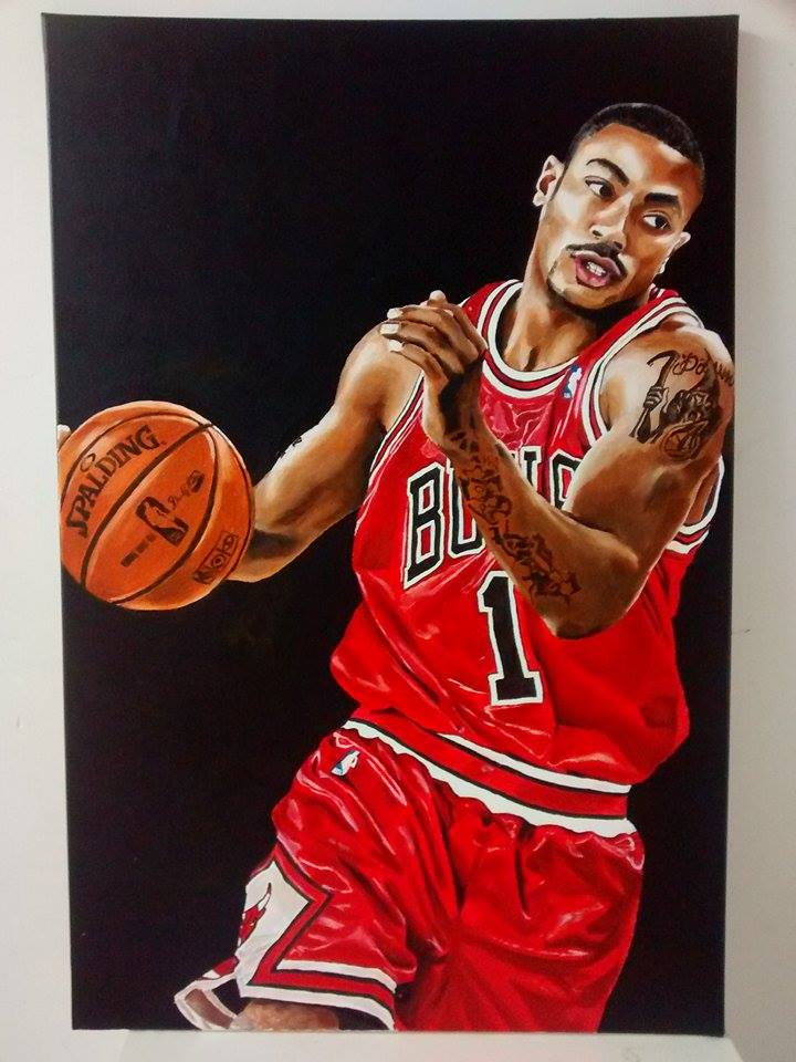 Derrick Rose by Roy