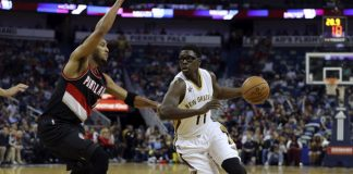 Jrue Holiday歸隊,為Pelicans提供不少協助。(圖片:Layne Murdoch Jr./NBAE-Getty)
