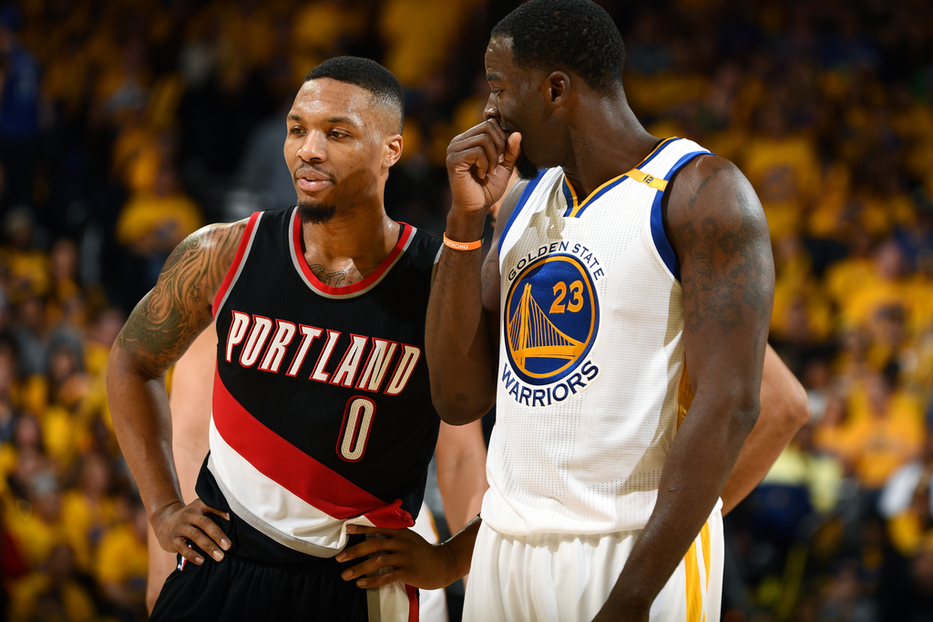 Damain Lillard指,Draymond Green是最多垃圾話(Trash Talk)的球員。(圖片:Garrett Ellwood/NBAE via Getty Images)